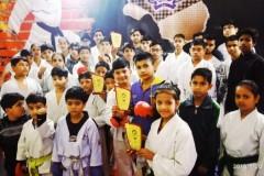 Karate class faridabad students